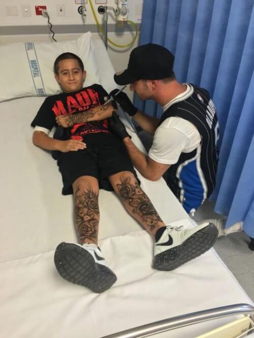 Tatuointi pienelle potilaalle