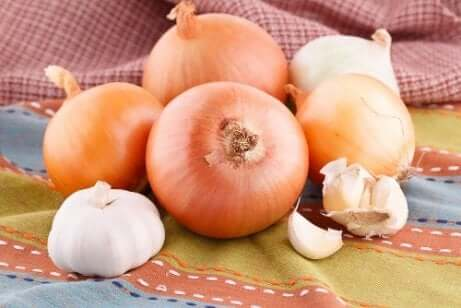 How to avoid wasting food - storing garlic and onions.