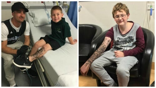 """Man Gives """"Temporary Tattoos"""" to Sick Children for Strength"""