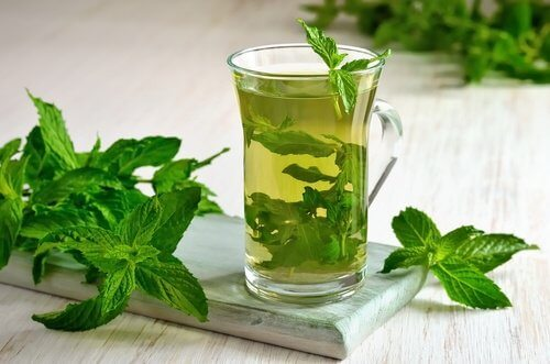 Mint infusion.