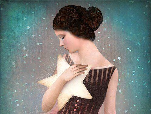 woman with star in arms