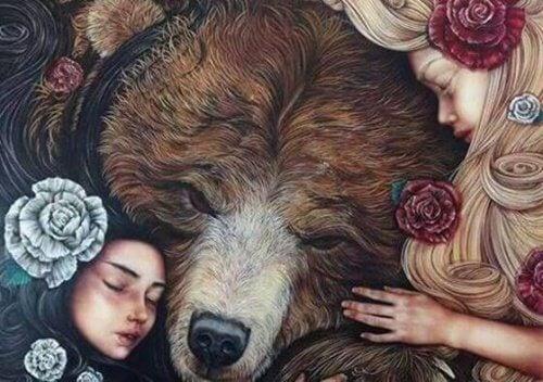 5 children and bear