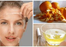 Egg White and Orange Peel Treatment to Tone Skin