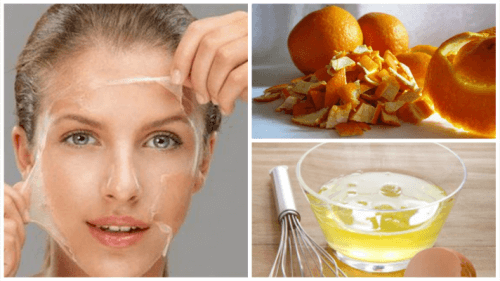 Egg White and Orange Peel Treatment to Tone Skin
