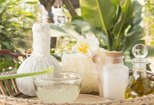 aloe vera cream and coconut oil