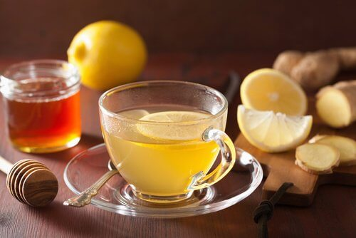 ginger and lemon infusion