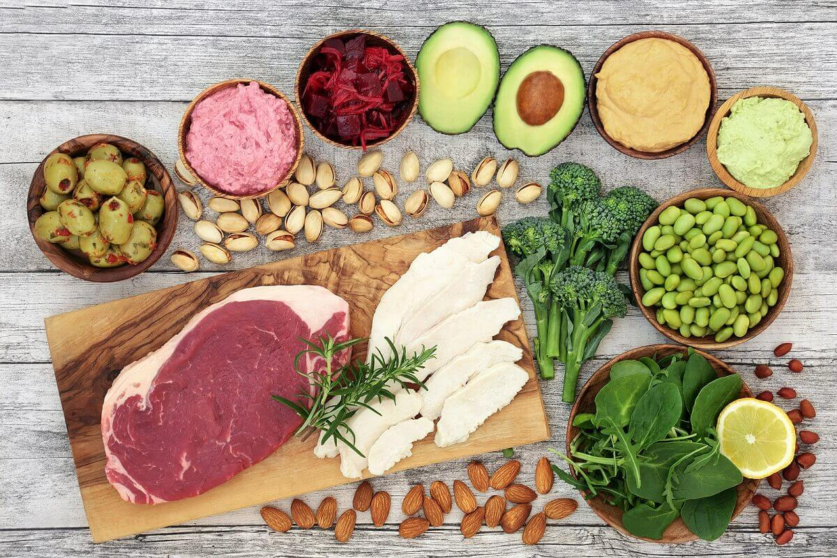 A selection of healthy foods.