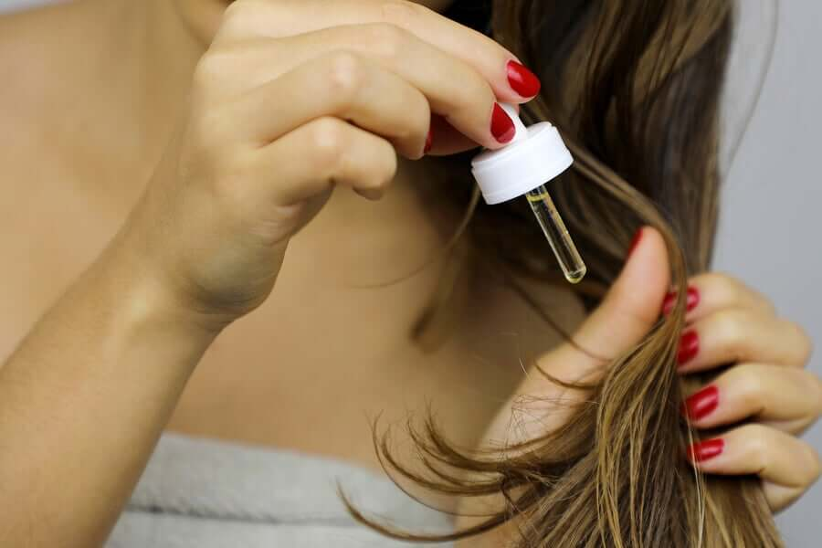 Apply oil to dry ends.