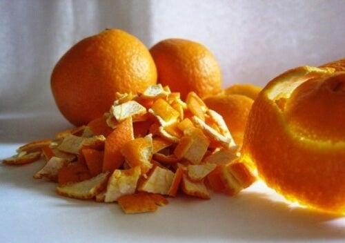 Orange peels.