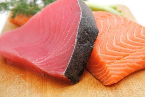 Salmon and tuna