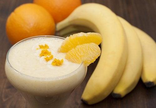 Orange slices and whole bananas orange smoothie banana smoothies