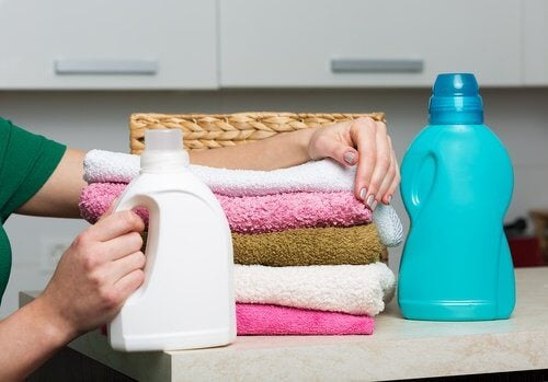 Bottles of fabric softner