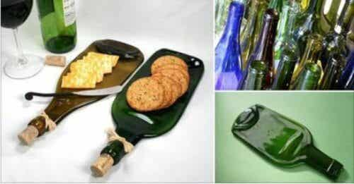 How to Use a Glass Bottle to Make a Unique Snack Platter