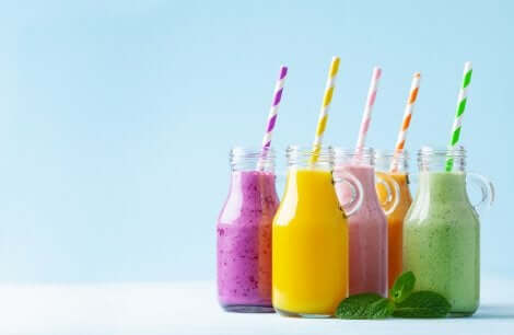 A few glasses of natural juices.