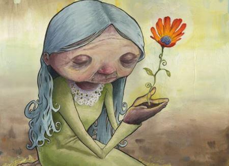 Mummo ja kukka