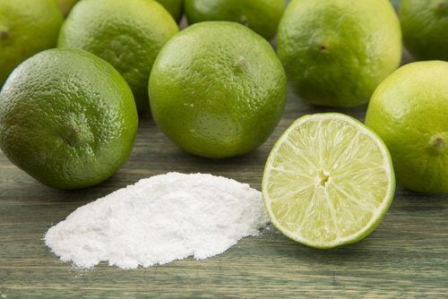 Lime and baking soda.