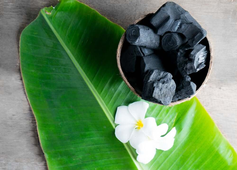 A bowl of activated charcoal.
