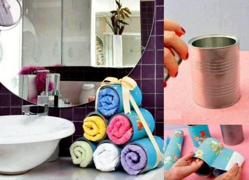 DIY towel organizer