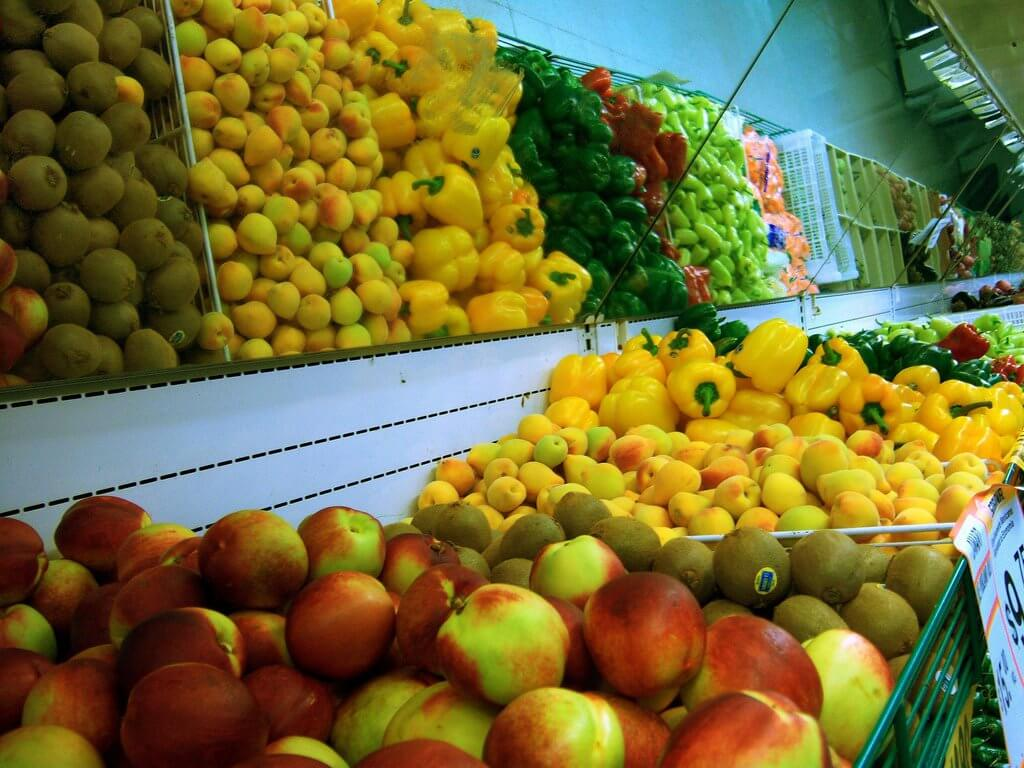 Fresh fruit in a fruit shop.