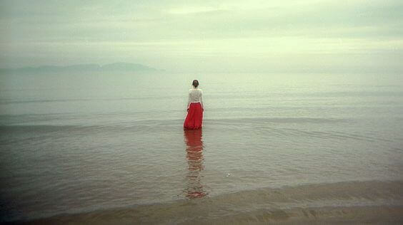 woman-sea, someone grieving