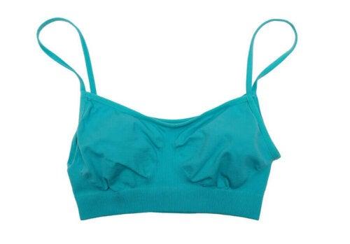 A blue sleeping bra.