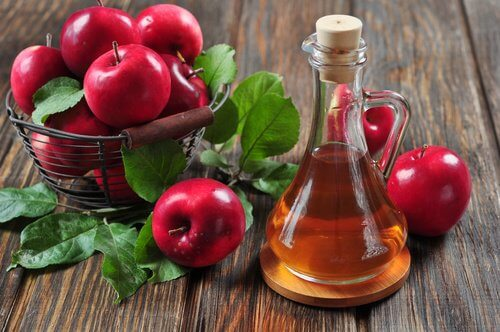 Apple cider vinegar is one of the products for healthy hair