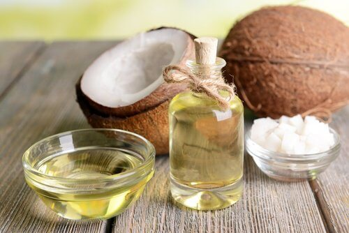 Coconut oil is one of the products for healthy hair