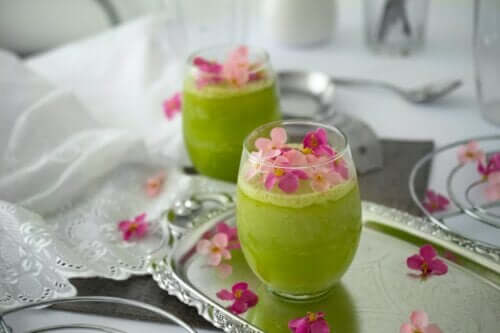 Melon, Green Apple and Cucumber Weight Loss Shake