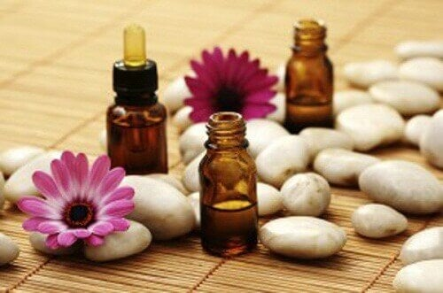 Aromatherapy with essential oils flowers for muscle relief natural remedies