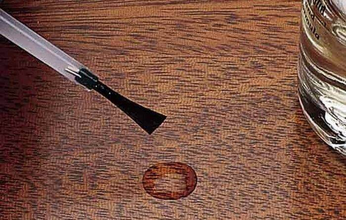 nail-polish-wood