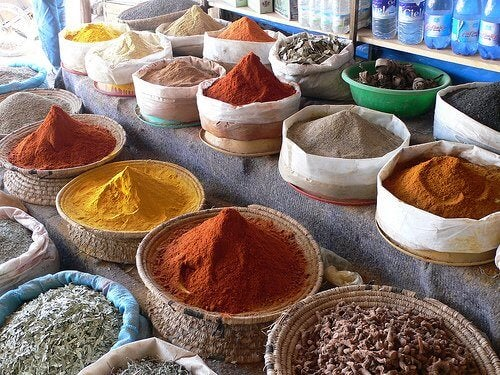 Different spices.