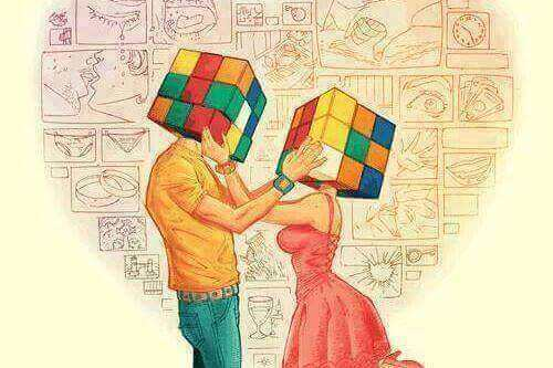 couple-with-rubiks-cubes-for-heads, misunderstandings