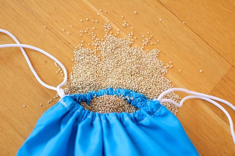 A bag of quinoa.