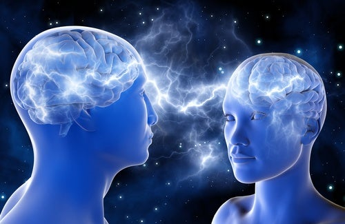 Two people brain waves secret of attraction