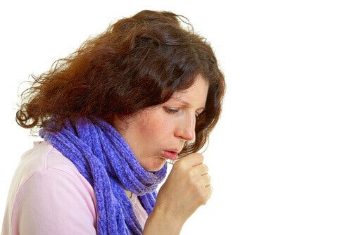 Lung cancer in women has cough as a symptom