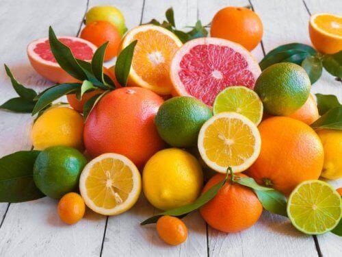 Citrus fruits contain vitamin C.