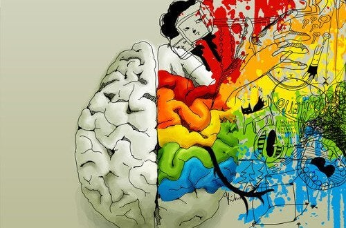 Image of brain with creative colors