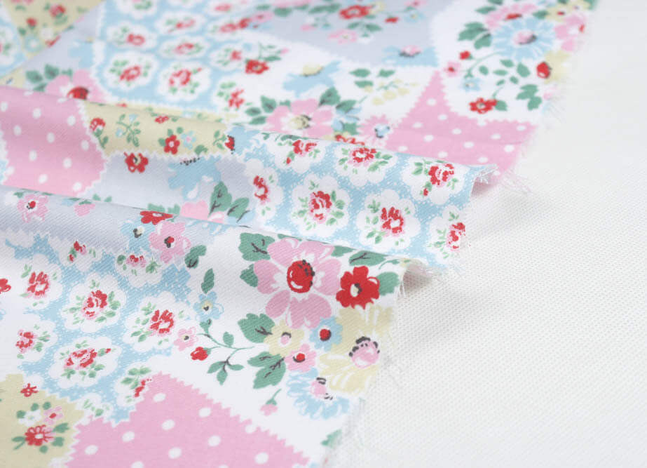 Fabric with flower pattern