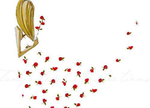 woman flowery dress
