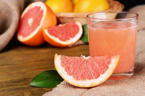 Pink gratefruit.