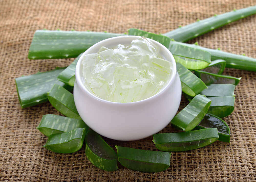 A aloe vera and milk mask.
