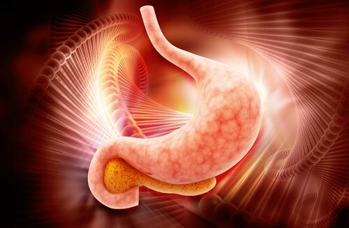 stomach with gastritis