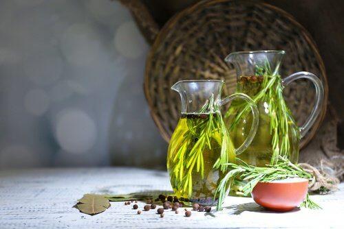 A jug of oregano oil