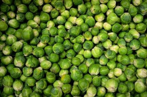 Brussels sprouts after a high-protein vegetable.