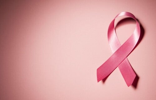 A pink cancer ribbon
