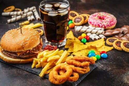 tasty food that's really bad for your health high in sugar content on a table