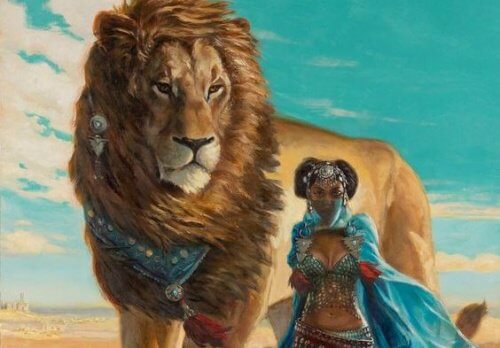 lion-with-woman
