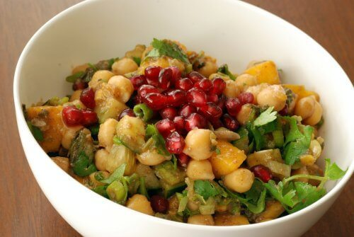 Try this Spectacular Chickpea, Mango and Pomegranate Salad