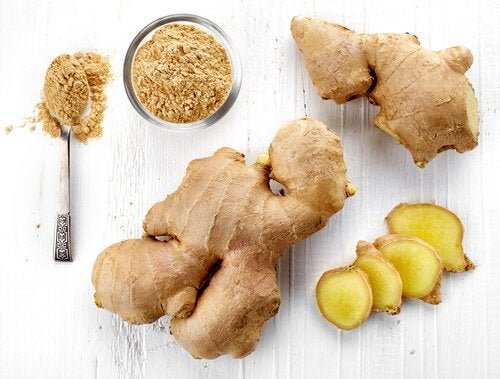 Cut up and ground ginger to help with lupus