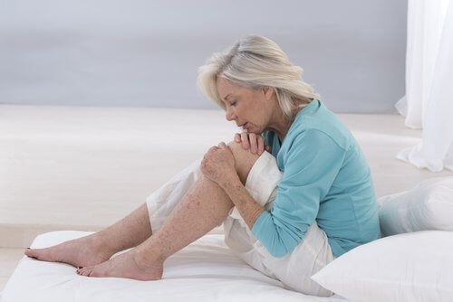 Elderly person with joint pain